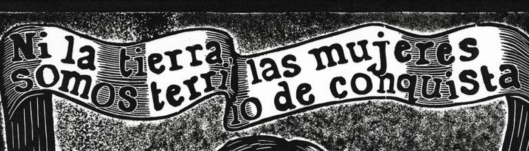 Ni la tierra, ni las mujeres_Website Banner